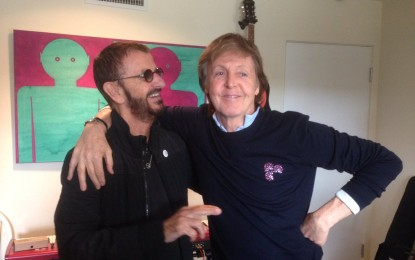Ringo Starr e Paul McCartney se reúnem em estúdio após sete anos